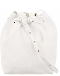 Mansur Gavriel Tumbled Leather Bucket Bag