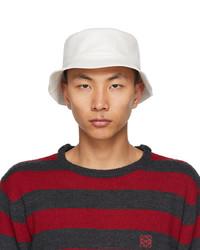 Loewe White Fisherman Bucket Hat