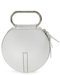 Alix leather circle clutch white medium 4136475