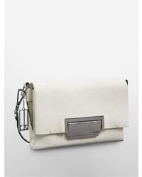 Calvin Klein Kelsey Pebbled Leather City Flap Shoulder Bag