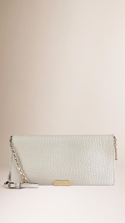 b5673a18c ... White Leather Clutches Burberry Medium Signature Grain Leather Clutch  Bag ...