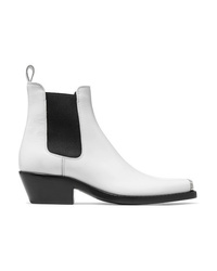 Calvin Klein 205W39nyc Claire Med Glossed Leather Ankle Boots