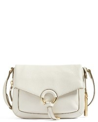 Vince Camuto Adina Leather Crossbody Bag Ivory