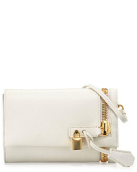Tom Ford Alix Small Fold Over Crossbody Bag White
