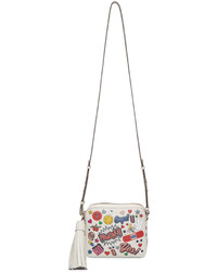 Anya Hindmarch Off White All Over Sticker Cross Body Bag