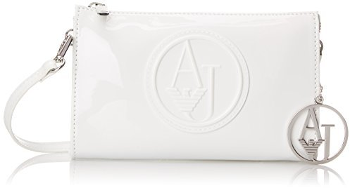 24accdd6a7eb ... White Leather Crossbody Bags Armani Jeans Rj Small Patent Crossbody  With Logo Bag