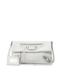 Balenciaga Metallic Edge Envelope Crossbody Bag White
