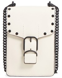 Rebecca Minkoff Biker Phone Crossbody Bag White