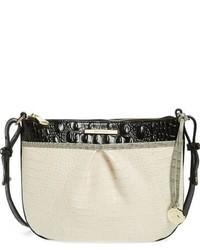 Brahmin Tara Embossed Leather Crossbody Bag Ivory