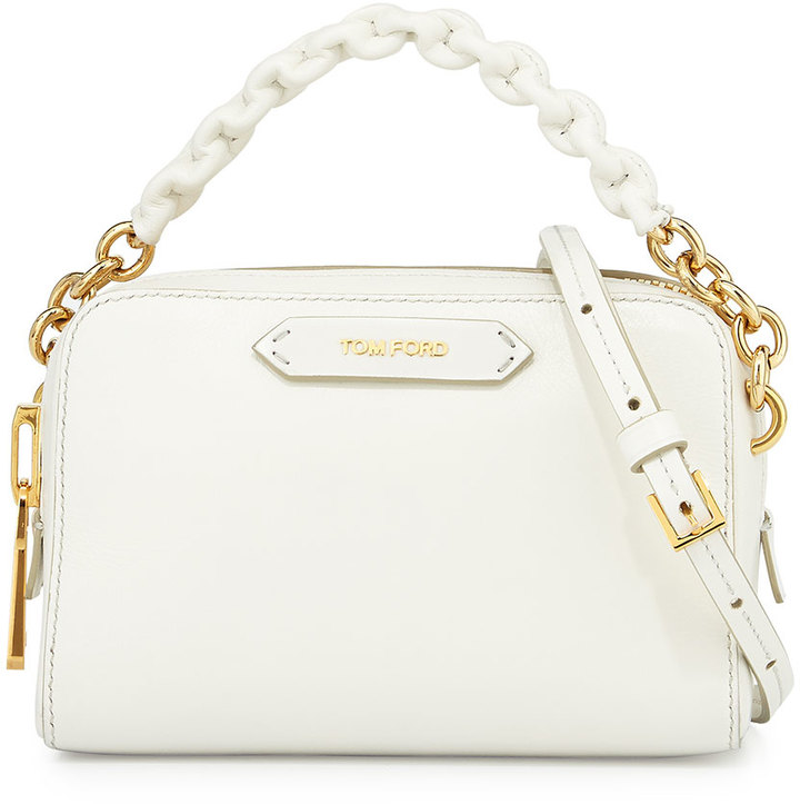 f68bfe876b6 ... Tom Ford Chain Strap Small Crossbody Bag White ...