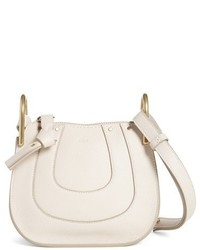 Chloé Chloe Nano Hayley Calfskin Leather Shoulder Bag White
