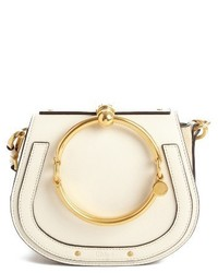 Chloé Chloe Small Nile Bracelet Leather Crossbody Bag Beige