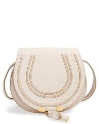 Chloé Chloe Mini Marcie Leather Crossbody Bag White