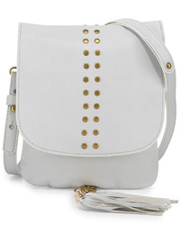 Cynthia Vincent Ember Leather Crossbody Bag White