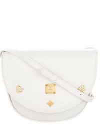 MCM Embellished Leather Flap Crossbody
