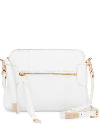 Foley + Corinna Emma Leather Crossbody Bag White