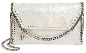 Stella McCartney Falabella Shaggy Deer Faux Leather Crossbody Bag White