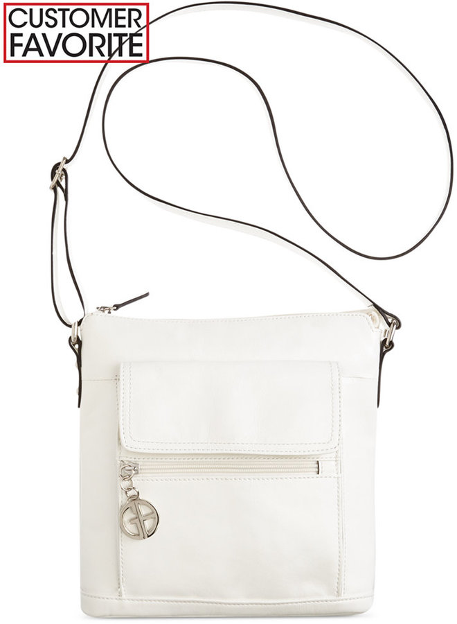 ... Bags Giani Bernini Florentine Glazed Leather Venice Crossbody Only At  Macys ...