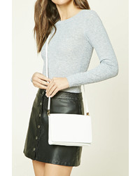 Forever 21 Faux Leather Crossbody Clutch