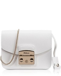 Furla Metropolis Chalk Leather Mini Crossbody Bag