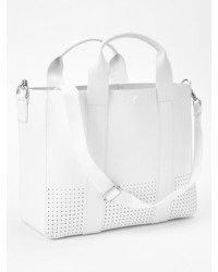 Gap Perforated Leather Tote Crossbody