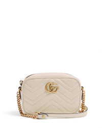 Gucci Gg Marmont Mini Quilted Leather Cross Body Bag