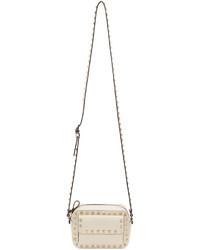 Valentino Ivory Small Rockstud Crossbody Bag