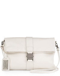 Badgley Mischka Jeyne Leather Crossbody Bag White