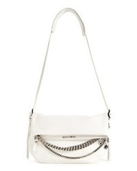 Jimmy Choo Biker Small Leather Crossbody Bag White