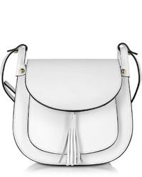 Le Partier White Leather Crossbody Bag