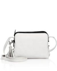 Loeffler Randall Small Triple Zip Leather Crossbody Bag
