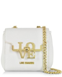 Love Moschino White Eco Leather Crossbody Bag