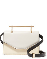 M2Malletier Indre Leather Shoulder Bag Ivory