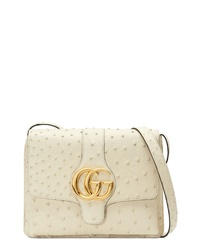 Gucci Medium Arli Ostrich Shoulder Bag