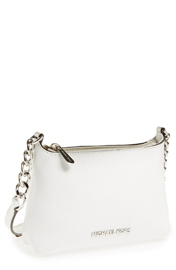 0289f48669a7 ... MICHAEL Michael Kors Michl Michl Kors Bedford Leather Crossbody Bag  Small Optic White