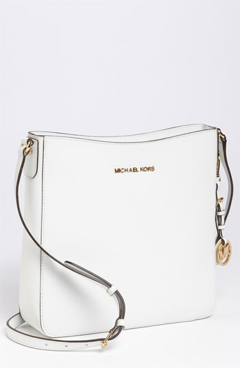 c8b55ef8fe19 ... MICHAEL Michael Kors Michl Michl Kors Jet Set Large Crossbody Bag Optic  White
