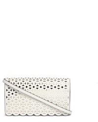 Michael Kors Michl Kors Desi Large Floral Perforated Leather Crossbody Bag