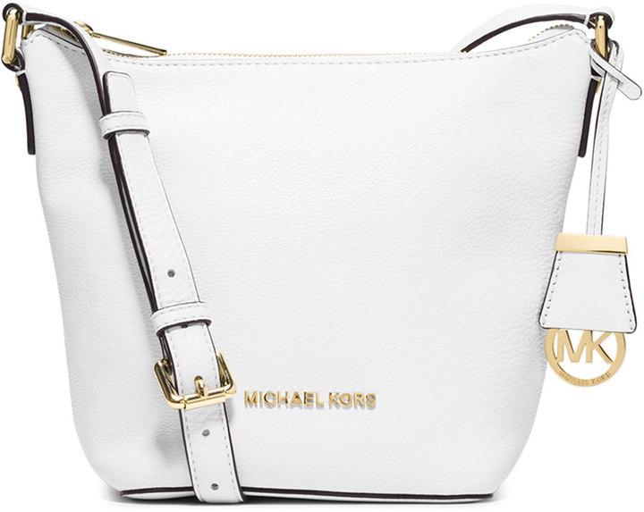 1e12aade9be381 ... MICHAEL Michael Kors Michl Michl Kors Bedford Small Messenger Bag Optic  White ...