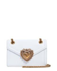 Dolce & Gabbana Micro Devotion Leather Crossbody Bag