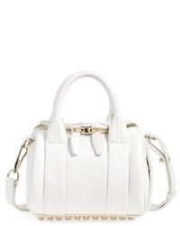 Alexander Wang Mini Rockie Pale Gold Leather Crossbody Satchel