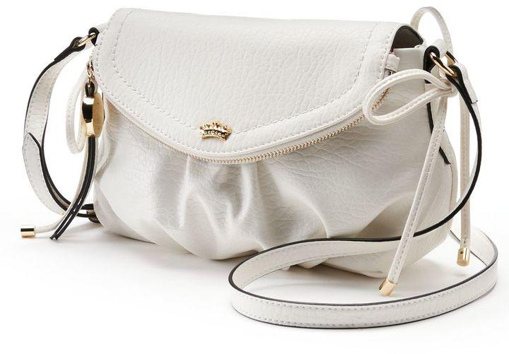 48c6dbaeb59 ... White Leather Crossbody Bags Juicy Couture Mini Traveler Crossbody Bag  ...