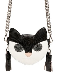 MSGM Cat Face Leather Shoulder Bag