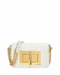 Tom Ford Natalia Small Chain Crossbody Bag White