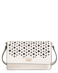 Kate Spade New York Cameron Street Arielle Perforated Leather Crossbody Bag White