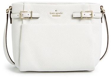 White Leather Crossbody Bags Kate Spade New York Holden Street Mini Brandy Pebbled Bag
