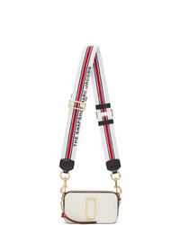 Marc Jacobs Off White And Red Small Snapshot Bag