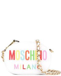 Moschino Oval Logo Crossbody Bag
