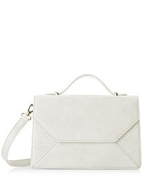 Poverty Flats By Rian Raised Dot V Top Handle Cross Body Bag