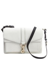 Rebecca Minkoff White Crosshatch Leather Hudson Crossbody Bag