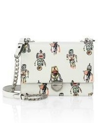 Prada Robot Saffiano Leather Chain Crossbody Bag